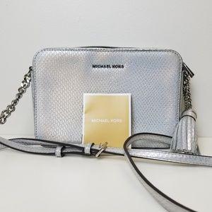 Michael Kors Ginny metallic cross-body bag